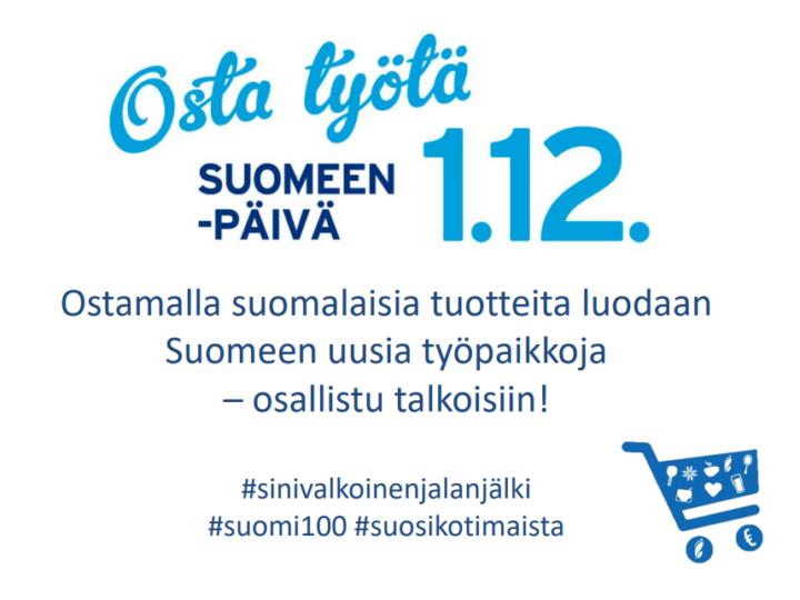 Osta työtä Suomeen- 1.12.2017