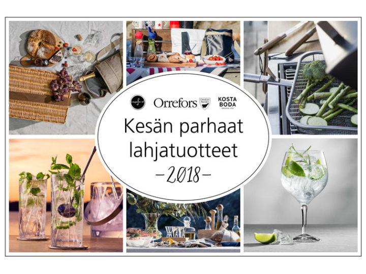 KESÄN PARHAAT LAHJATUOTTEET 2018